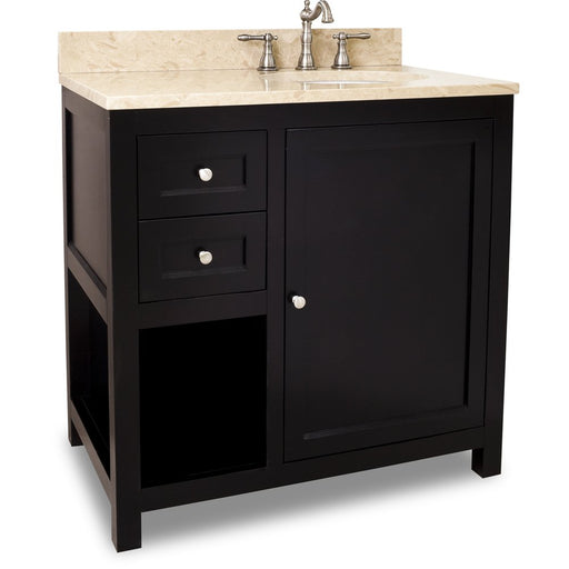 "Jeffrey Alexander VAN092-36-T 36"" wide solid wood vanity-DirectSinks"