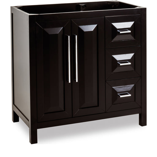 "Jeffrey Alexander Cade Contempo 35"" Vanity without Top"