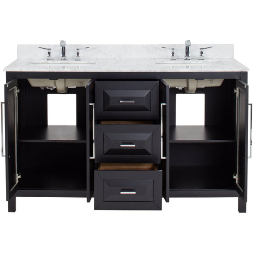 "Jeffrey Alexander Cade Contempo 60"" Vanity with Preassembled Top and Bowl-DirectSinks"