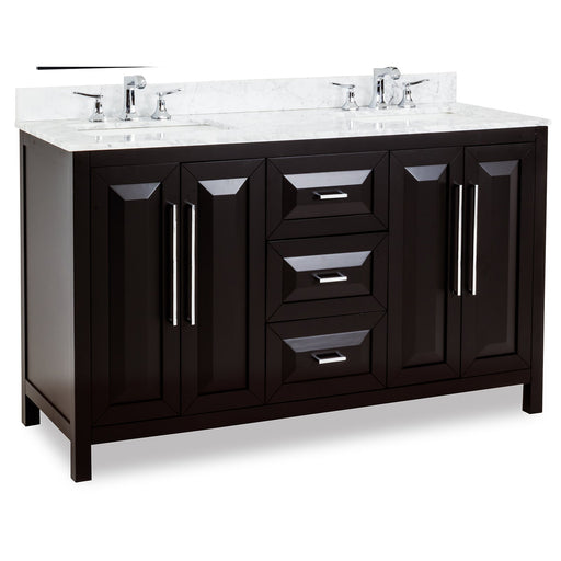 "Jeffrey Alexander Cade Contempo 60"" Vanity with Preassembled Top and Bowl"