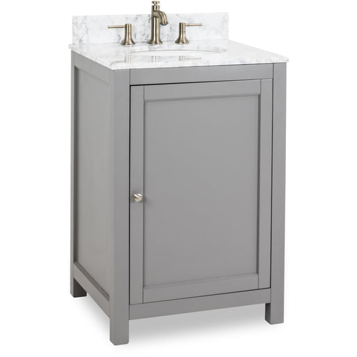 "Jeffrey Alexander Astoria Modern 24"" Vanity with Preassembled Top and Bowl in Gray"