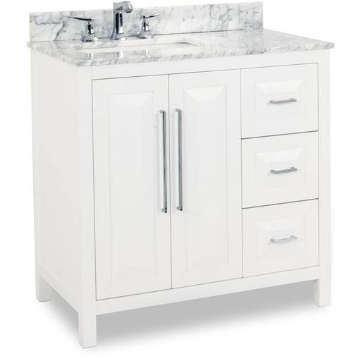 "Jeffrey Alexander Cade Contempo 36"" Vanity with Preassembled Top and Bowl-DirectSinks"