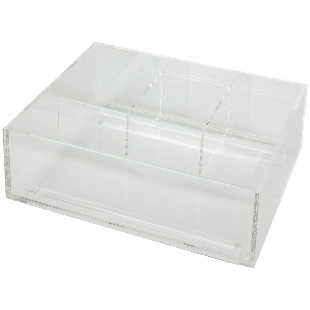 Hardware Resources Divided Acrylic Top Tray for Vanity Pullout