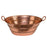 Premier Copper Products Oval Bucket Vessel Hammered Copper Sink with Handles-DirectSinks