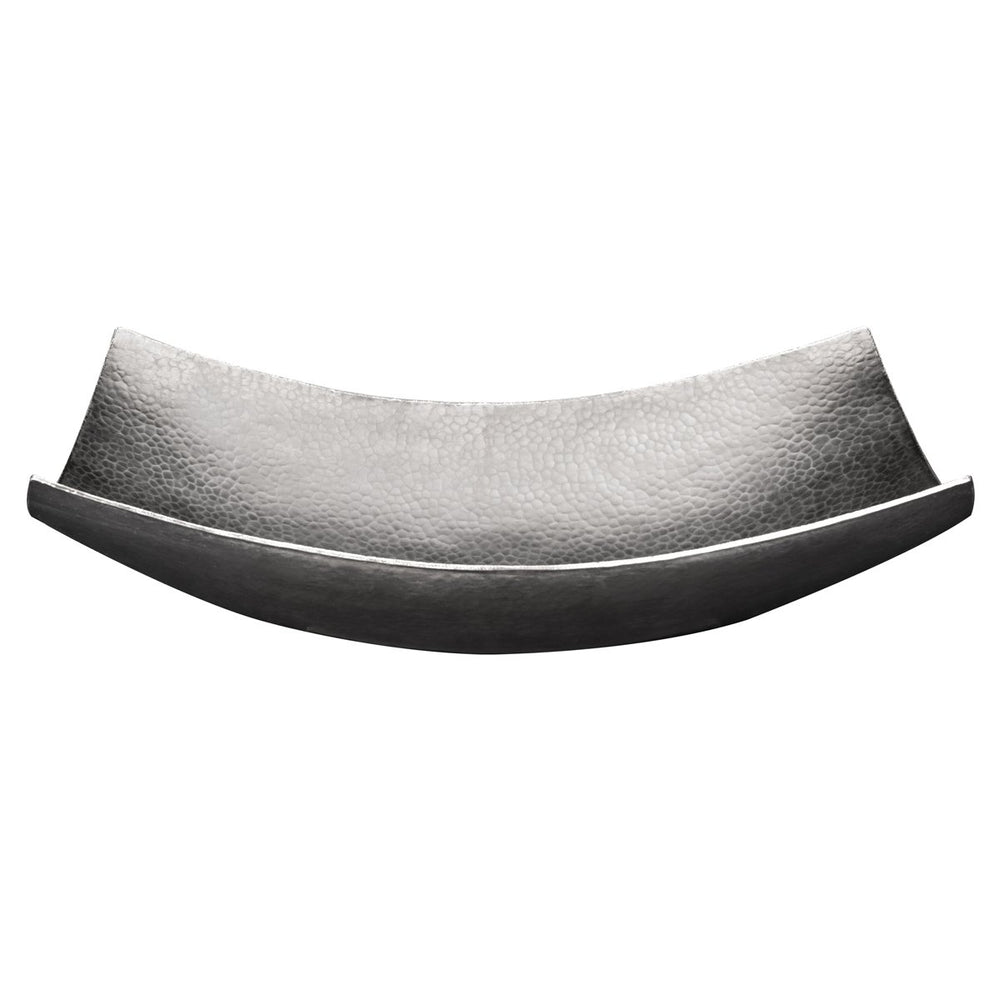 "Premier Copper Products 18"" Rectangle Modern Slope Hammered Copper Sink in Nickel-DirectSinks"