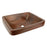 "Premier Copper Products 19"" Rectangle Skirted Vessel Hammered Copper Sink-DirectSinks"