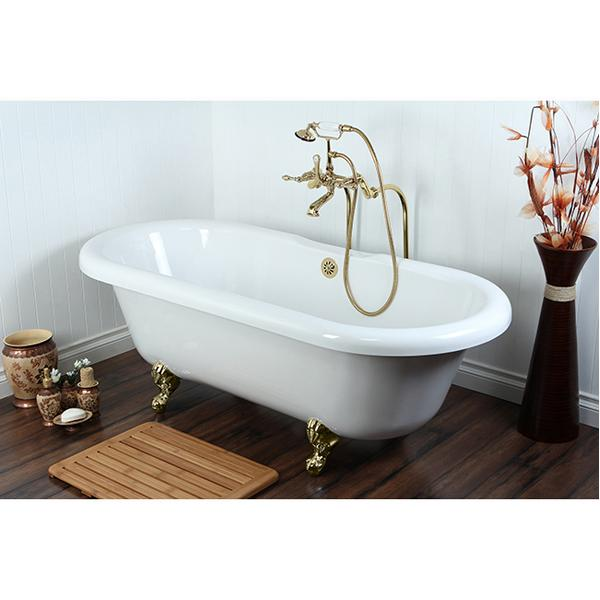 Kingston Brass Vintage Freestanding Tub Filler Package-Tub Faucets-Free Shipping-Directsinks.