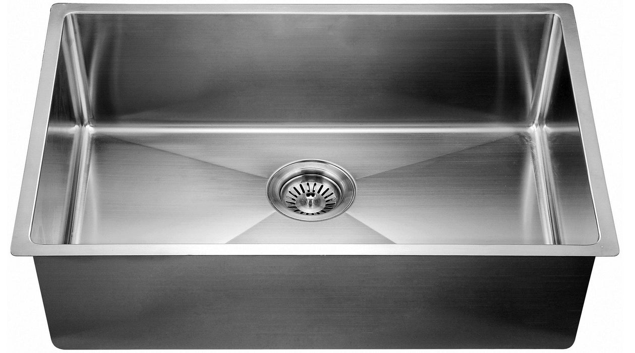 "Dawn 44"" 16 Gauge Extra Small Corner Radius Undermount Single Bowl Sink-Kitchen Sinks Fast Shipping at DirectSinks."