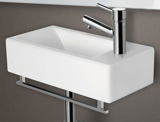 "17"" Chrome Squared Towel Bar Addition To The Ab108 Bathroom Sink Basin-DirectSinks"