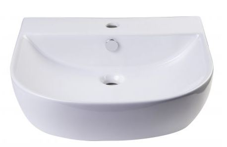 "AB110 20"" White D-Bowl Porcelain Wall Mounted Bath Sink-DirectSinks"