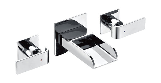 ALFI brand AB1796 Widespread Wall Mounted Modern Waterfall Bathroom Faucet-Bathroom Faucets-DirectSinks