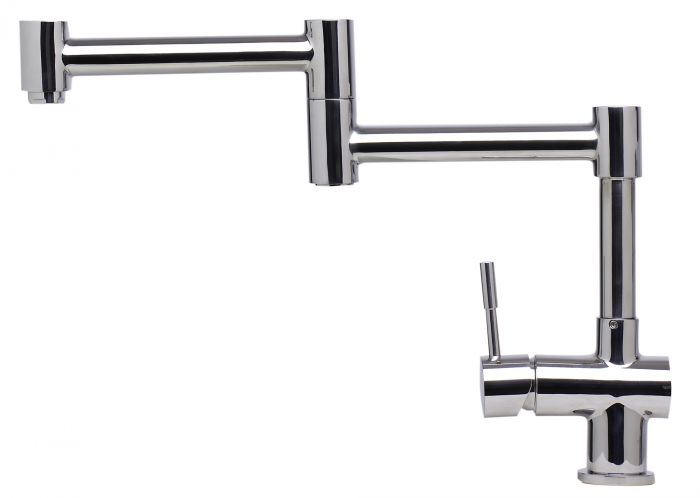Alfi Solid Stainless Steel Retractable Single Hole Kitchen Faucet