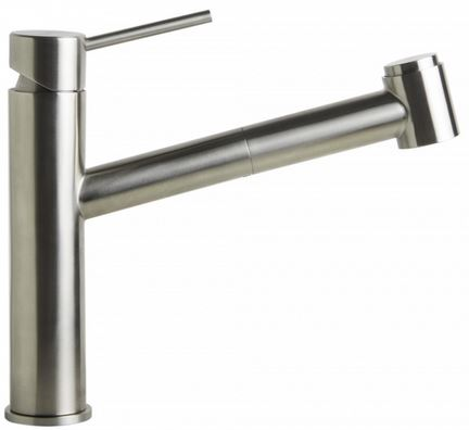 AB2203-PSS Polished Stainless Steel Kitchen Faucet /w Pull-Out Spray-DirectSinks