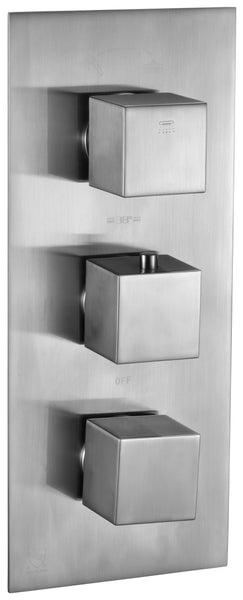 ALFI brand AB2701 Square 2 Way Thermostatic Shower Mixer