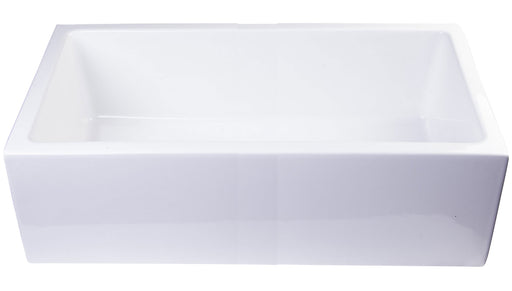 "33"" Smooth Apron Solid Thick Wall Fireclay Single Bowl Farm Sink-DirectSinks"