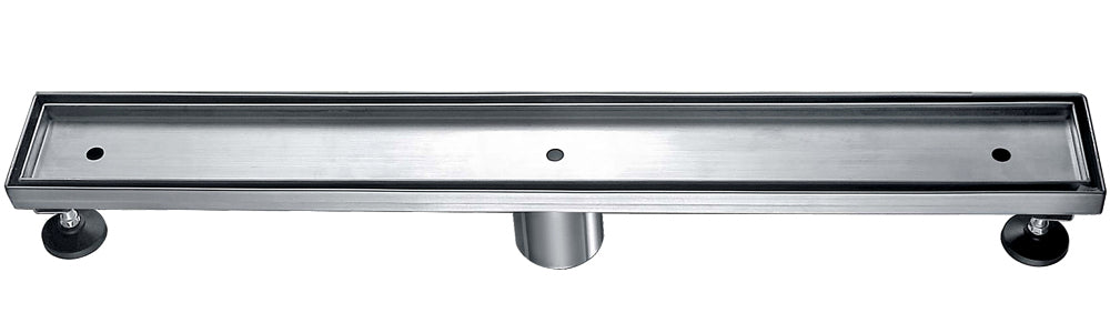 "ALFI brand ABLD24A 24"" Long Modern Stainless Steel Linear Shower Drain w/o Cover"