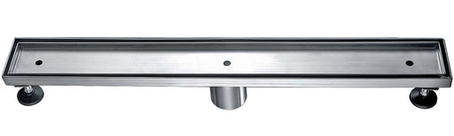 "ALFI brand ABLD24A 24"" Long Modern Stainless Steel Linear Shower Drain w/o Cover-DirectSinks"