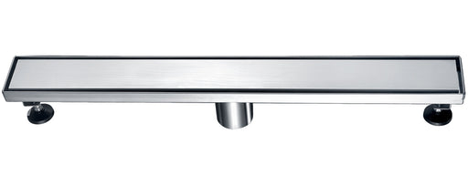 "ALFI brand ABLD24B 24"" Long Modern Stainless Steel Linear Shower Drain with Solid Cover-DirectSinks"