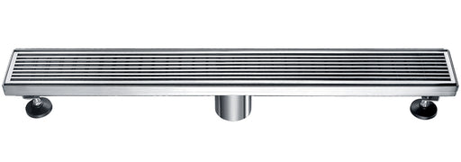 "ALFI brand ABLD24D 24"" Modern Stainless Steel Linear Shower Drain with Groove Lines"