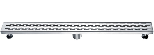 "ALFI brand ABLD32C 32"" Modern Stainless Steel Linear Shower Drain with Groove Holes-DirectSinks"