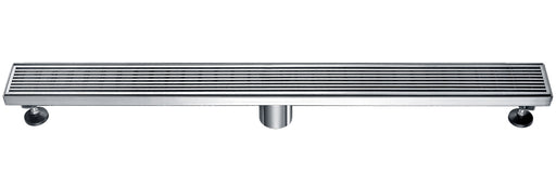 "ALFI brand ABLD32D 32"" Modern Stainless Steel Linear Shower Drain with Groove Lines-DirectSinks"