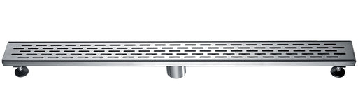 "ALFI brand ABLD36C 36"" Modern Stainless Steel Linear Shower Drain with Groove Holes-DirectSinks"