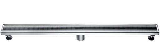 "ALFI brand ABLD36D 36"" Modern Stainless Steel Linear Shower Drain with Groove Lines-DirectSinks"