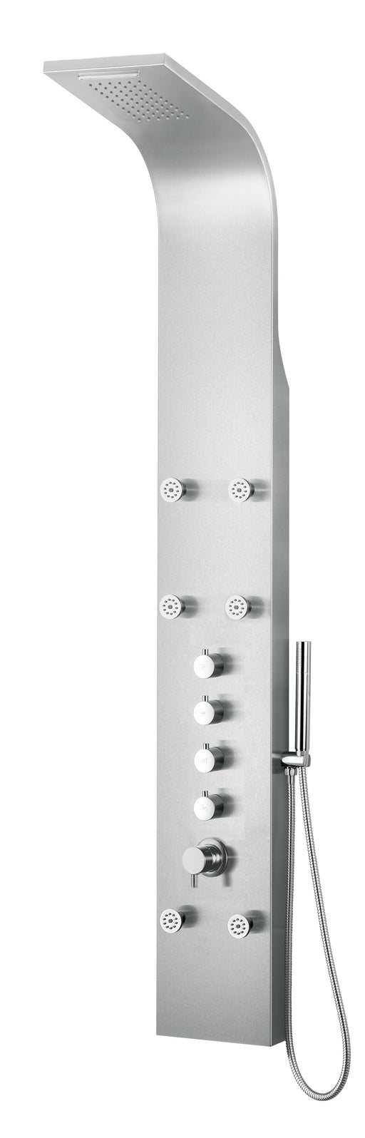 Alfi Brand ABSP40 Modern Stainless Steel Shower Panel with 6 Body Sprays-DirectSinks