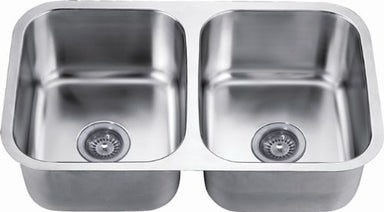 "31"" Double Bowl Undermount 18 Gauge Stainless Steel Kitchen Sink-Kitchen Sinks Fast Shipping at DirectSinks."