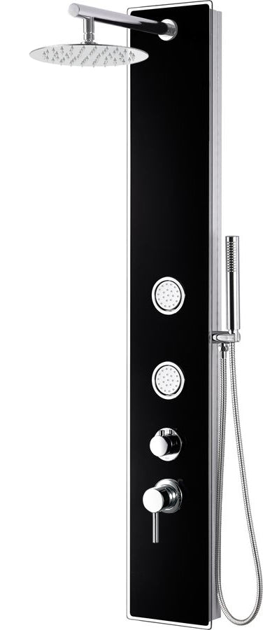 Alfi Brand Glass Shower Panel with 2 Body Sprays and Rain Shower Head-DirectSinks
