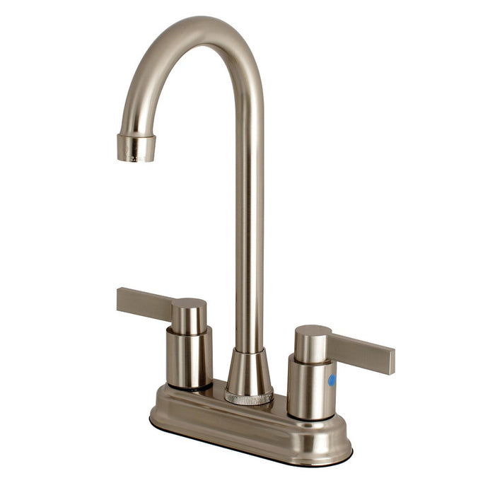 Kingston Brass NuvoFusion 4-Inch Centerset High-Arch Bar Faucet