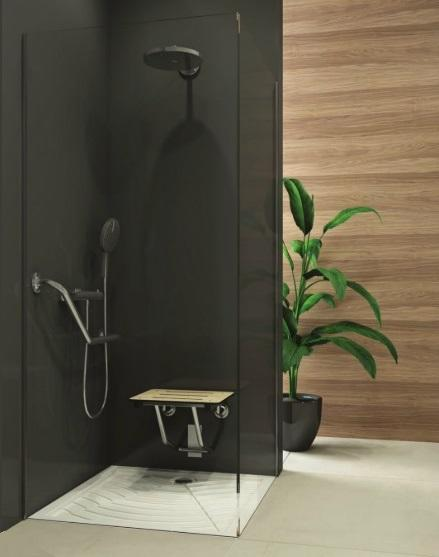 Bocchi comfort and care collection, shower seats for safety and functionality