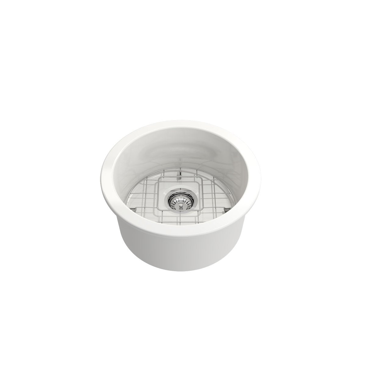 Bocchi Sotto Round Undermount Fireclay 18.5-Inch Single Bowl Kitchen and Bar Sink. Available in 9 Colors!-Bar & Prep Sinks-DirectSinks