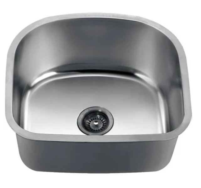 Dawn 22 Quot Undermount Single Bowl 18 Gauge Stainless Steel
