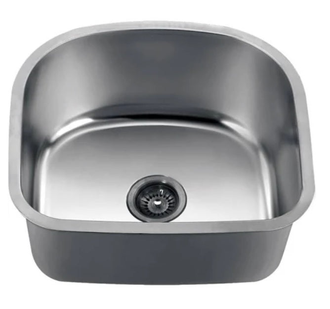 "22"" Undermount Single Bowl 18 Gauge Stainless Steel Kitchen Sink-Kitchen Sinks Fast Shipping at DirectSinks."