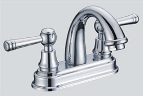 Dawn DS12 1302 Double Handle Lavatory Faucet-Bathroom Faucets-DirectSinks