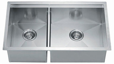 "32"" Double Bowl Dual Mount 18 Gauge Stainless Steel Kitchen Sink-Kitchen Sinks Fast Shipping at DirectSinks."