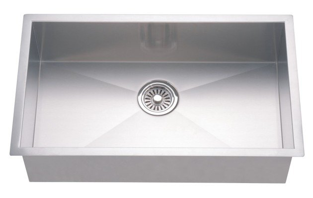 Dawn DSQ3116 33 inch Single Bowl Dual Mount 18 Gauge Kitchen Sink-Kitchen Sinks Fast Shipping at DirectSinks.