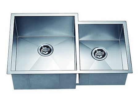 "33"" Double Bowl Dual Mount 18 Gauge Stainless Steel Kitchen Sink-Kitchen Sinks Fast Shipping at DirectSinks."
