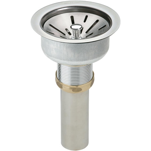 "Elkay 3-1/2"" Drain Fitting Type 304 Stainless Steel Body, Strainer Basket and Tailpiece-DirectSinks"