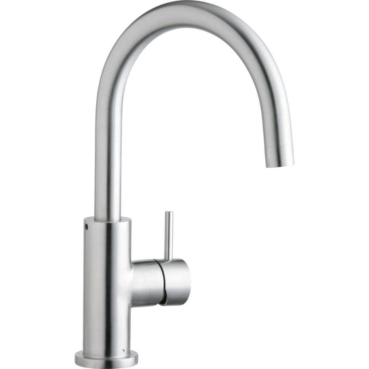 Elkay Allure Single Hole Kitchen Faucet with Lever Handle Satin Stainless Steel-DirectSinks