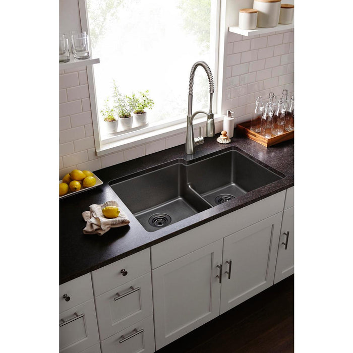 Elkay Avado Single Hole Kitchen Faucet with Semi-Professional Spout Forward  Only Lever Handle
