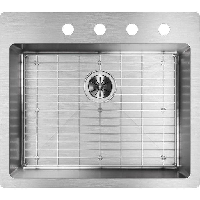 "Elkay Crosstown Stainless Steel 25"" x 22"" x 9"", Single Bowl Dual Mount Sink Kit-DirectSinks"