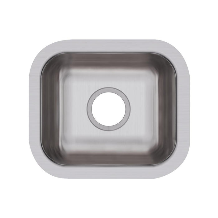 "Elkay Dayton Stainless Steel 14-1/2"" x 12-1/2"" x 6-1/2"", Single Bowl Undermount Bar Sink-DirectSinks"