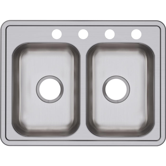 "Elkay Dayton Stainless Steel 25"" x 19"" x 6-5/16"", Equal Double Bowl Drop-in Sink-DirectSinks"