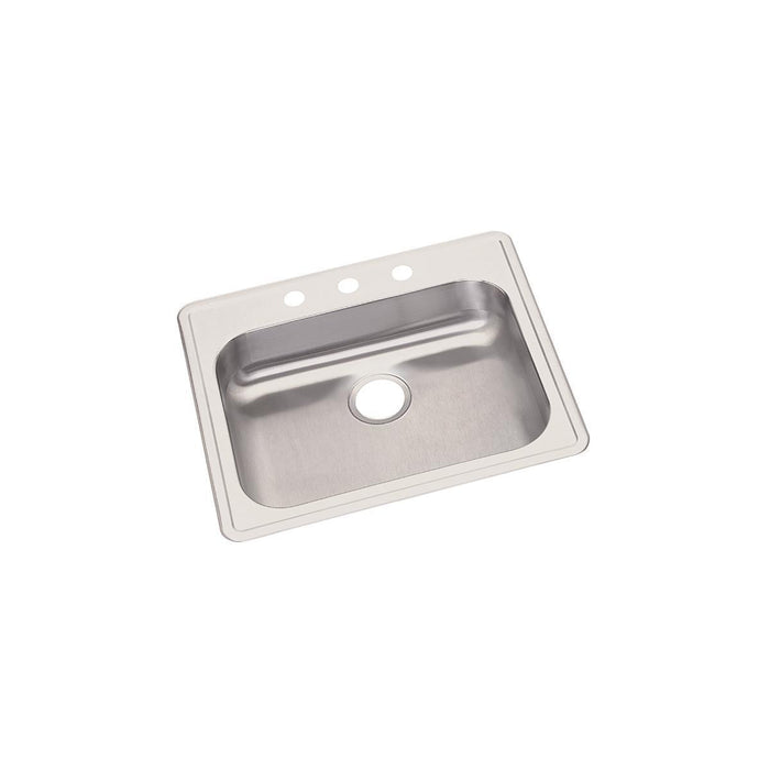"Elkay Dayton Stainless Steel 25"" x 21-1/4"" x 5-3/8"", Single Bowl Drop-in Sink-DirectSinks"