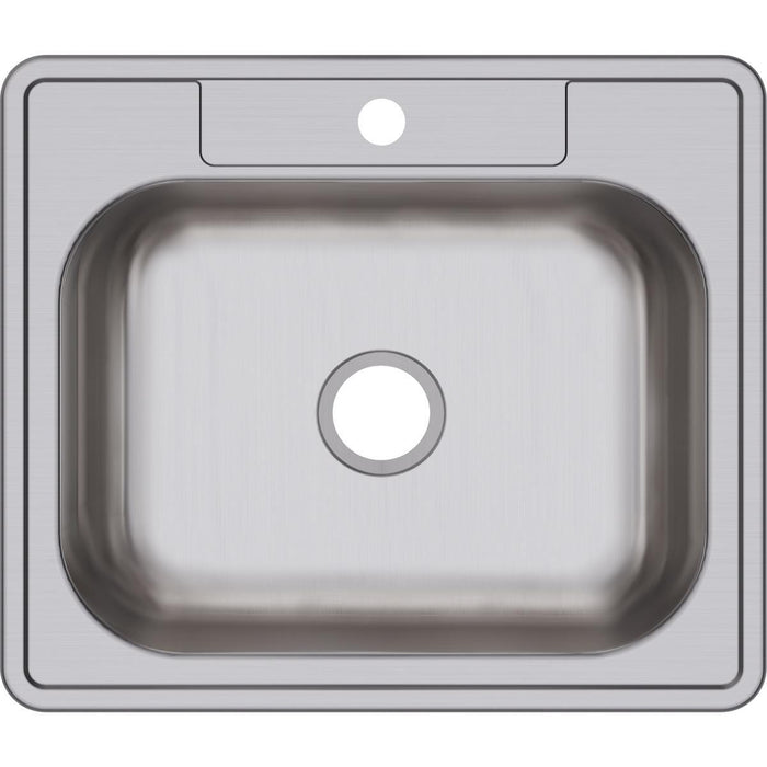 "Elkay Dayton Stainless Steel 25"" x 21-1/4"" x 6-9/16"", Single Bowl Drop-in Sink-DirectSinks"