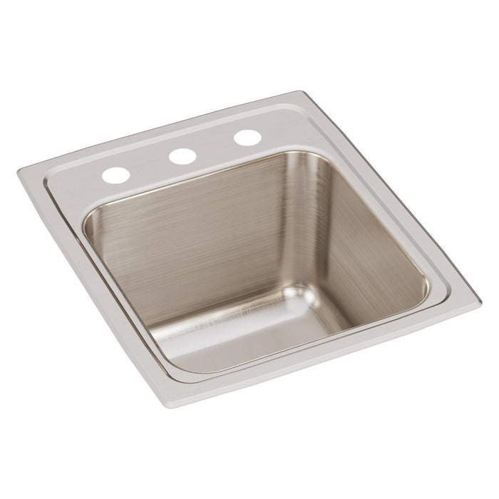 "Elkay Lustertone Classic Stainless Steel 15"" x 17-1/2"" x 10"", Single Bowl Drop-in Sink-DirectSinks"