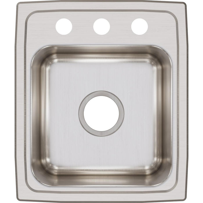 "Elkay Lustertone Classic Stainless Steel 15"" x 17-1/2"" x 7-5/8"", Single Bowl Drop-in Bar Sink-DirectSinks"