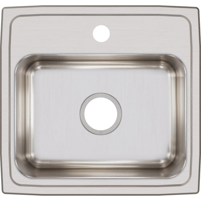 "Elkay Lustertone Classic Stainless Steel 19"" x 18"" x 7-5/8"", Single Bowl Drop-in Sink-DirectSinks"